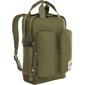 The North Face Mini Crevasse Backpack four leaf clover dark heather/new taupe green dark heath